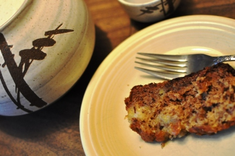 Banana Pineapple Bread with Pandanus Ginger Tea