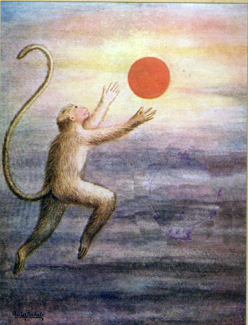 Hanuman Mistakes the Sun for a friut
