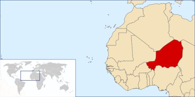 Location of Niger