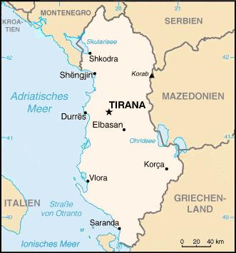 Detail of Albania