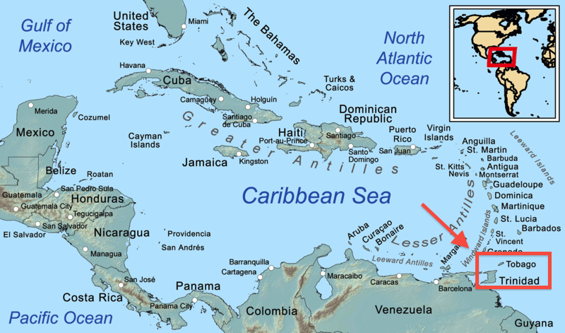 Location of Trinidad and Tobago The Global Reader
