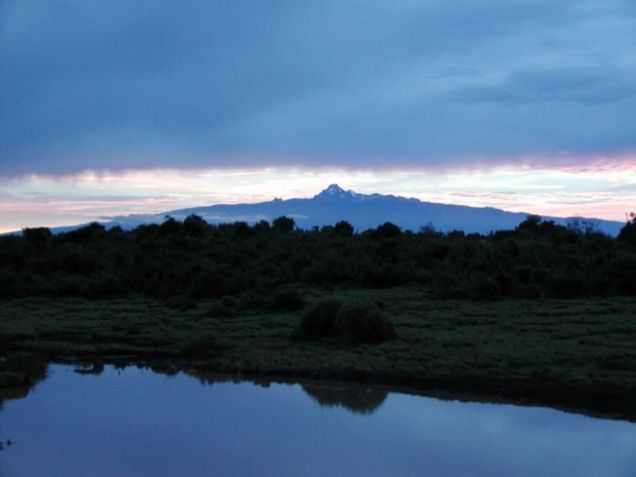 Sunrise over Mount Kenya
