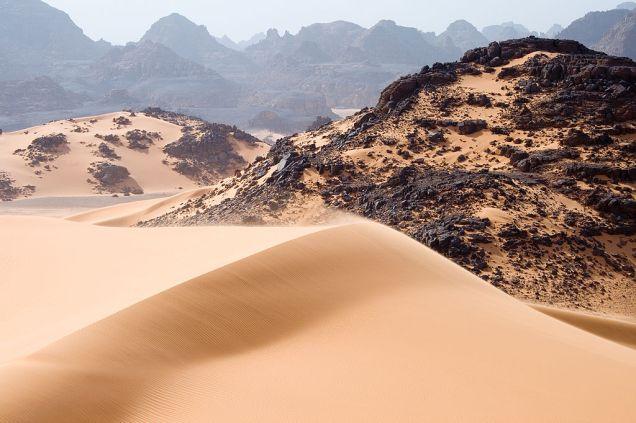 Tadrart Acacus, a desert area in south western Libya