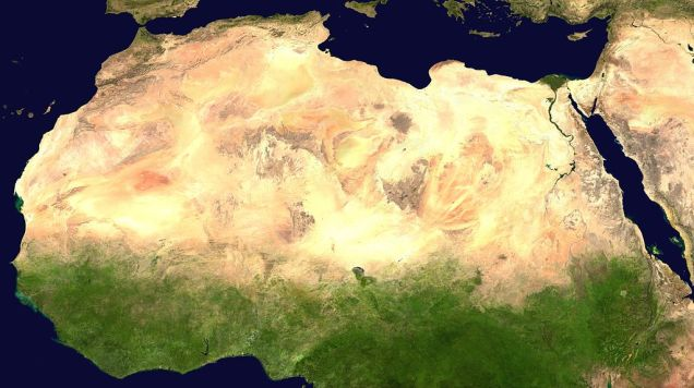 Sahara by satellite
