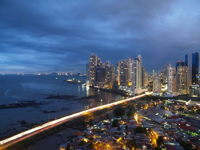 Panama City, Panama at night