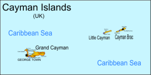 Detail of the Cayman Islands
