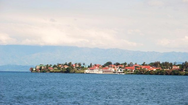 City of Goma, on Lake Kivu in eastern DRC