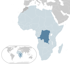 Location of Democratic Republic of Congo