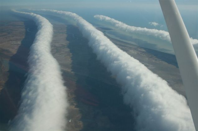 Morning Glory Clouds over the Gulf of Carpentaria (