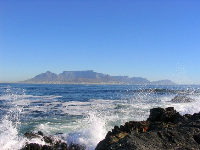 View of Cape Town, from Robbin Island