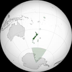 Location of New Zealand