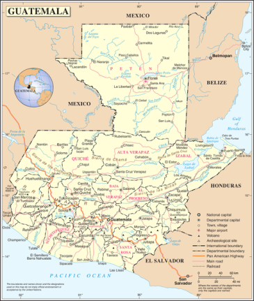 Map of Guatemala