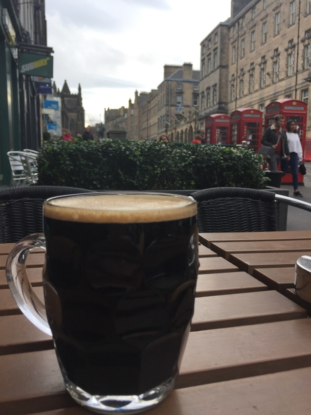 A pint on The Royal Mile