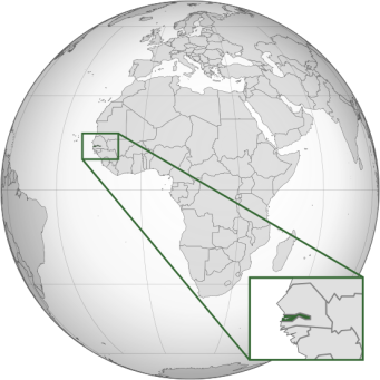 Location of the Gambia