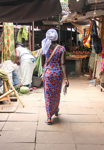 A Woman Walking, Gambia