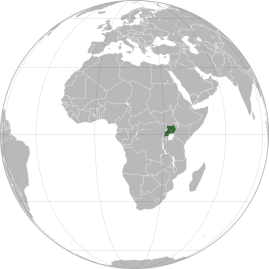 Location of Uganda