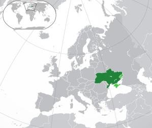 Location of Ukraine