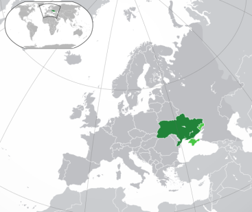 Location of Ukraine
