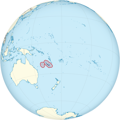 Location of New Caledonia
