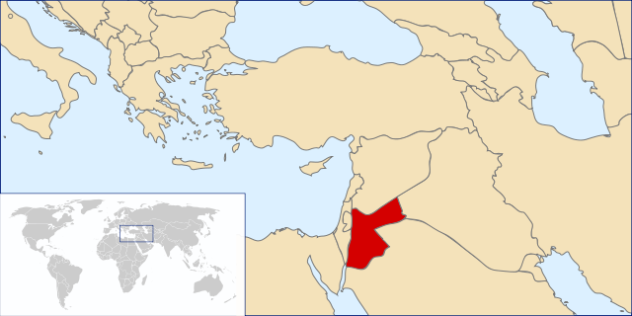 Location of Jordan