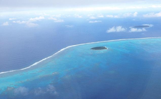 Approach to Fua'amotu Airport, Tongatapu, Tonga
