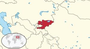 Location of Kyrgyzstan