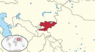 Location of Kyrgyzstan