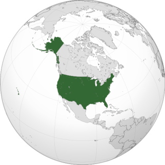 Location of the USA