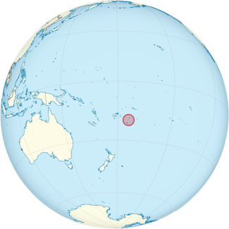 Location of Tonga