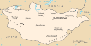 Map of Mongolia