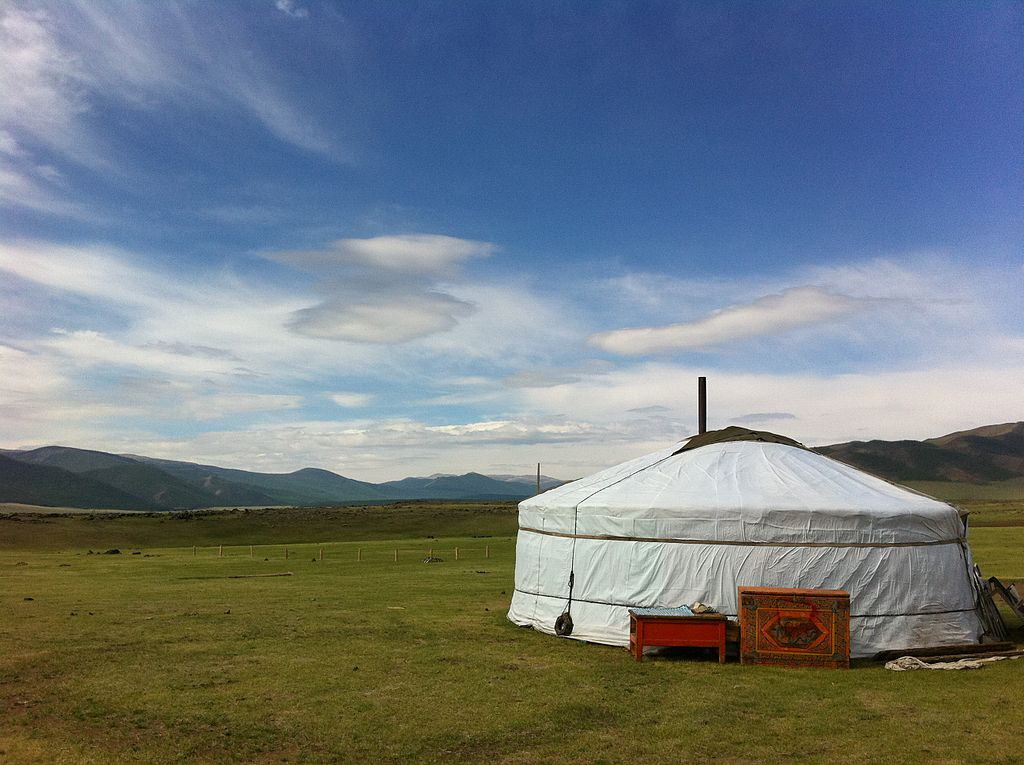 Yurt on the Mongolian Steppe