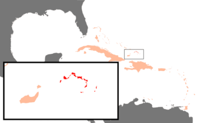 Location of Turks and Caicos