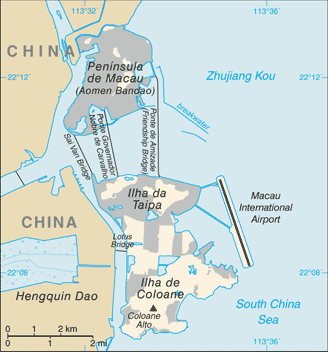 Map of Macau