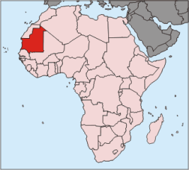 Location of Mauritania